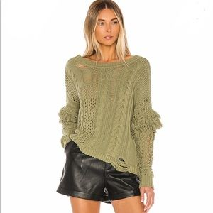 Olive sweater, demas sweater, HOUSE OF HARLOW, NEW